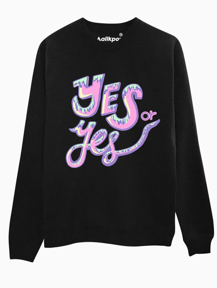 Yes or Yes Crew Crews AKP Unisex Black Small