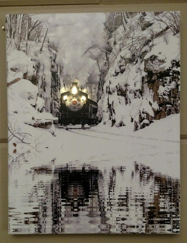 Engine & Snowy Creek Canvas