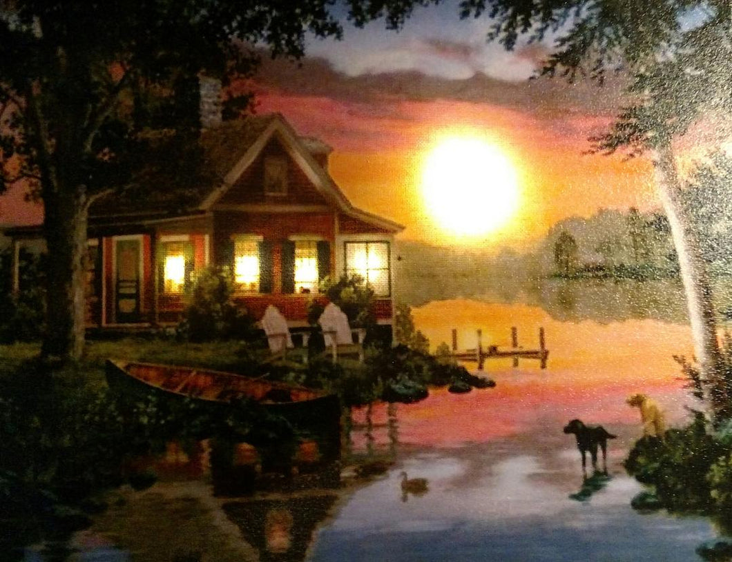 Cottage by the Lake Canvas