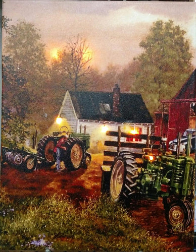 Dawn on the Farm Canvas