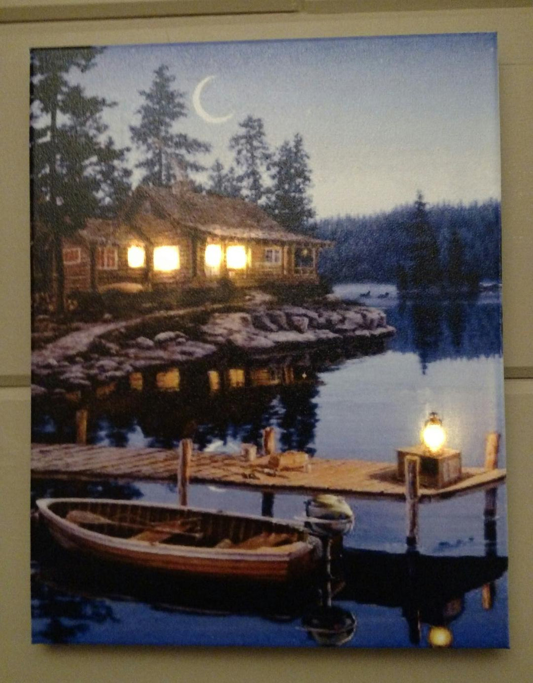 Dockside Fishing Canvas