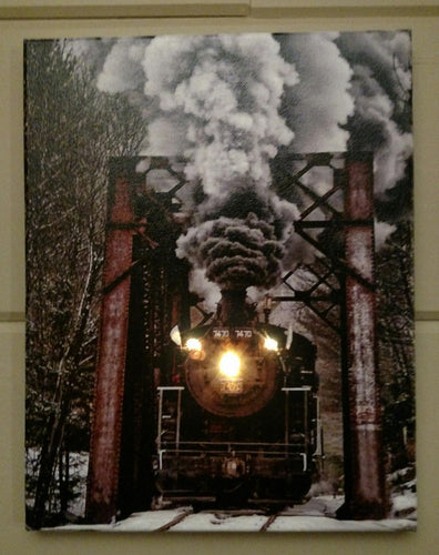 Train & Tressel Canvas