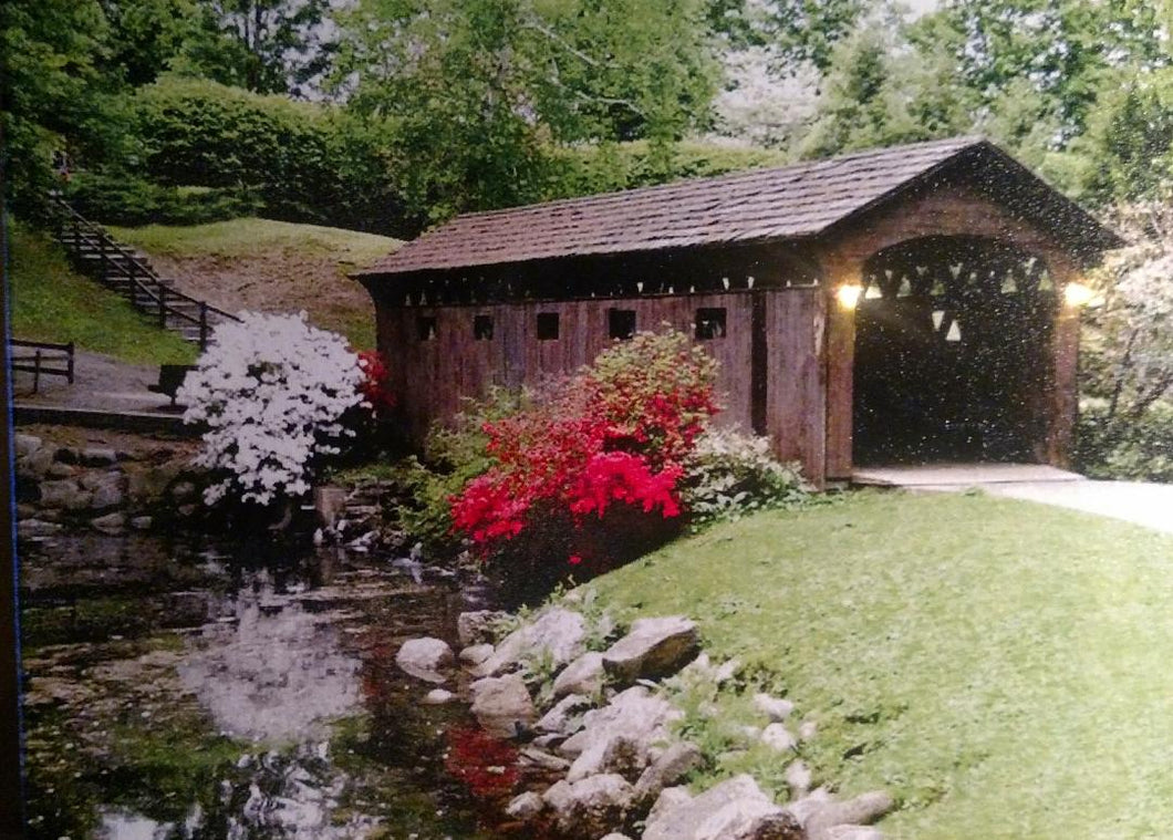 Covered Bridge with Creek Canvas