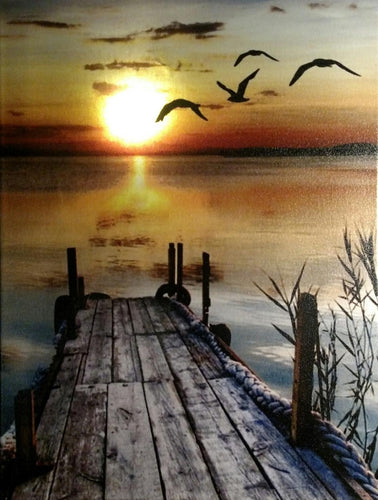 Sunset on the Dock Canvas