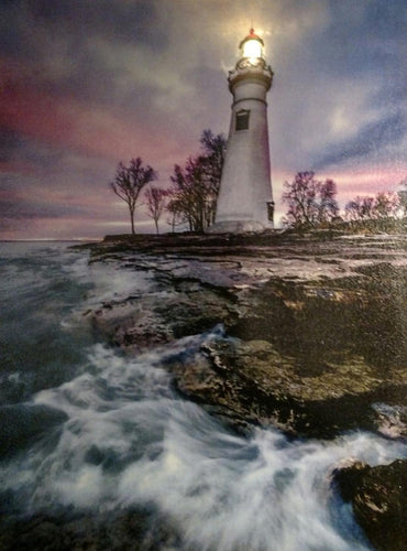 The Lighthouse at Dusk Canvas