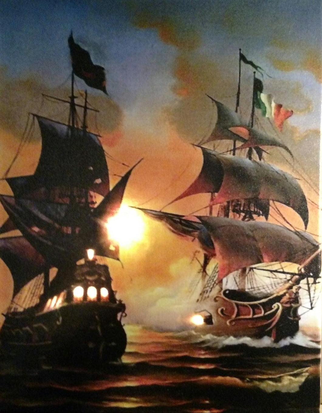 Tall Ship Battle Canvas