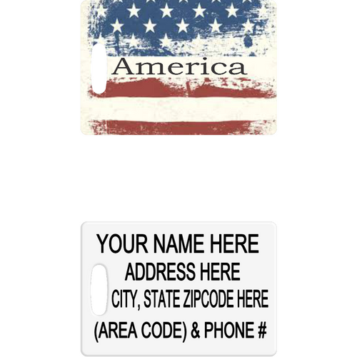 America Luggage Tag - Incredible Keepsakes