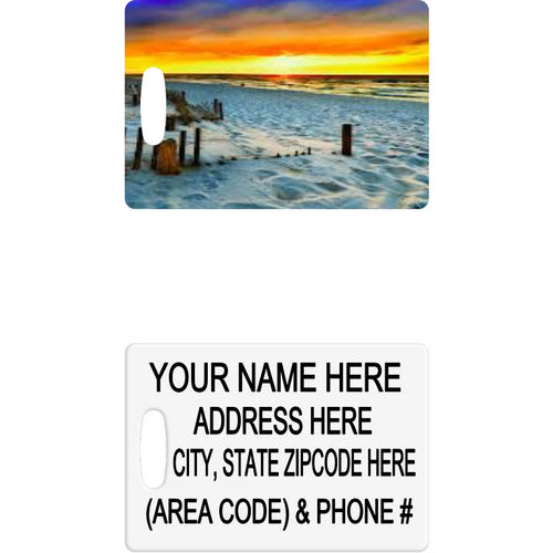 Beach Sunset Luggage Tag - Incredible Keepsakes