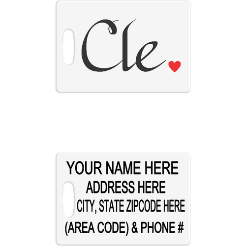 Cle Luggage Tag - Incredible Keepsakes
