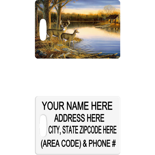 Deer by the Lake Luggage Tag - Incredible Keepsakes