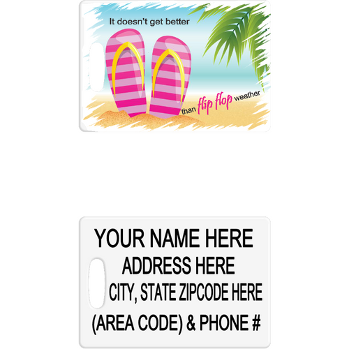 Flip Flops Luggage Tag - Incredible Keepsakes