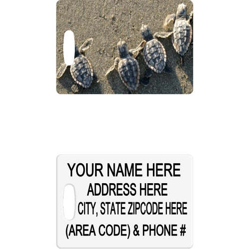 Little Turtles Luggage Tag - Incredible Keepsakes