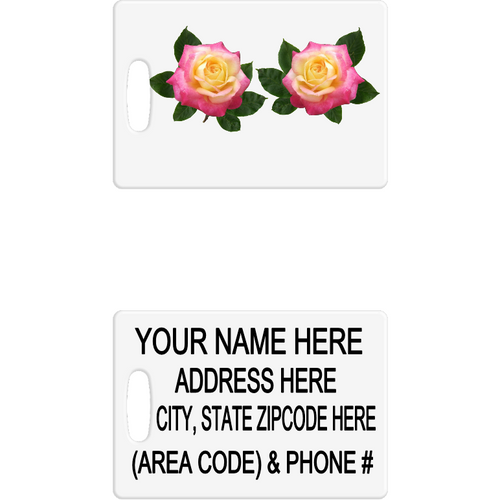 Pink & Yellow Roses Luggage Tag - Incredible Keepsakes