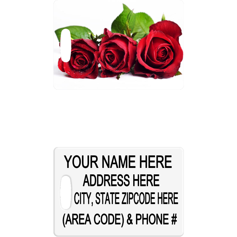Red Roses Luggage Tag - Incredible Keepsakes