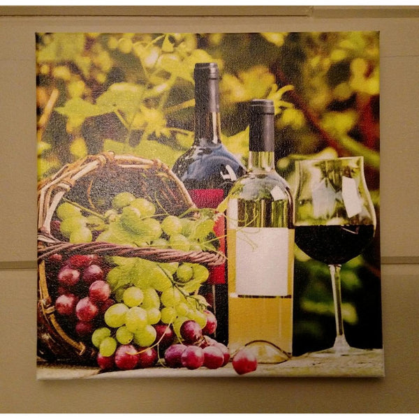 Basket of Grapes & Wine Canvas - Incredible Keepsakes
