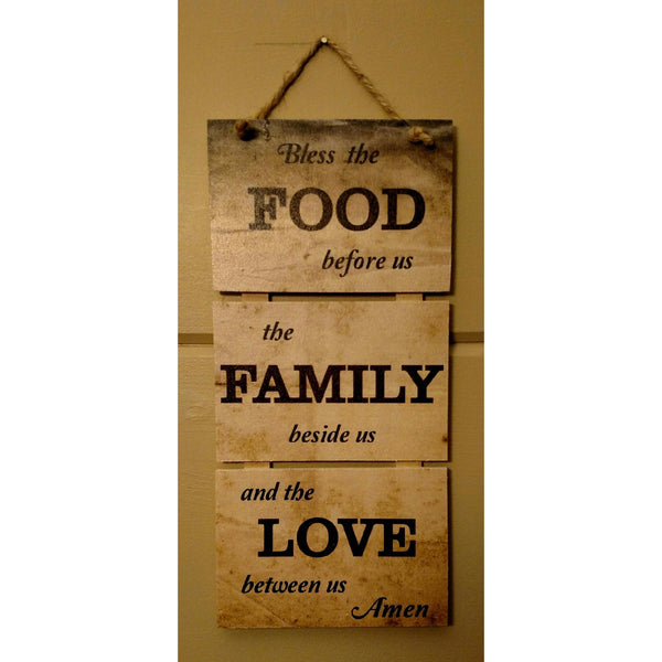Food, Family & Love Pallet Wood Art - Incredible Keepsakes