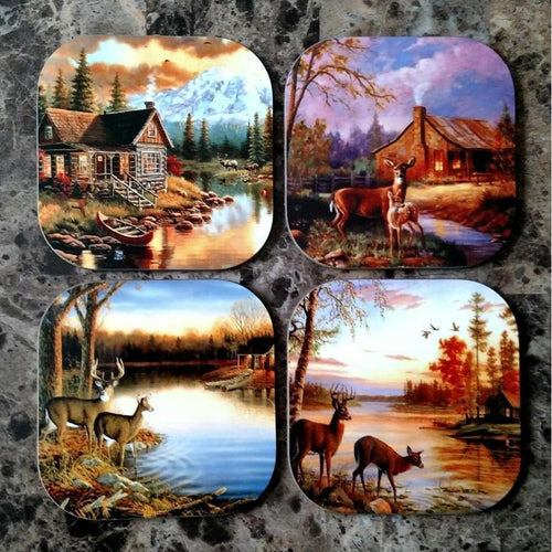 Cabin Coasters - Incredible Keepsakes