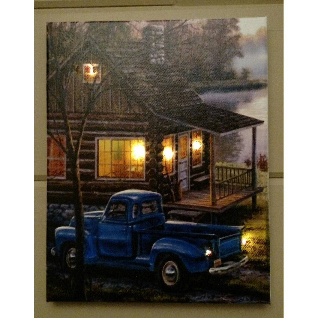 Cabin by the Lake Canvas - Incredible Keepsakes
