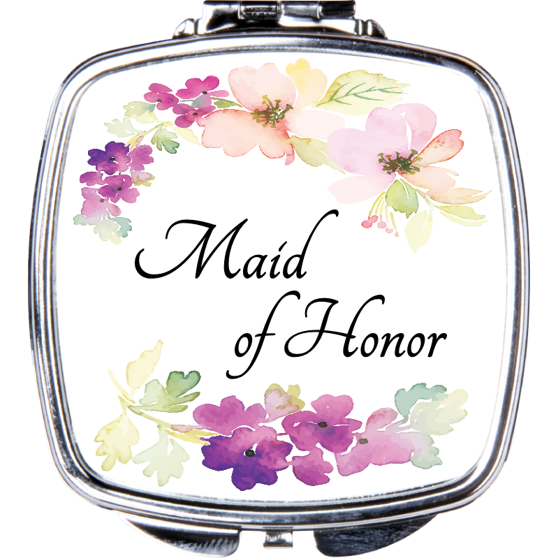 Maid of Honor Compact Mirror - Incredible Keepsakes