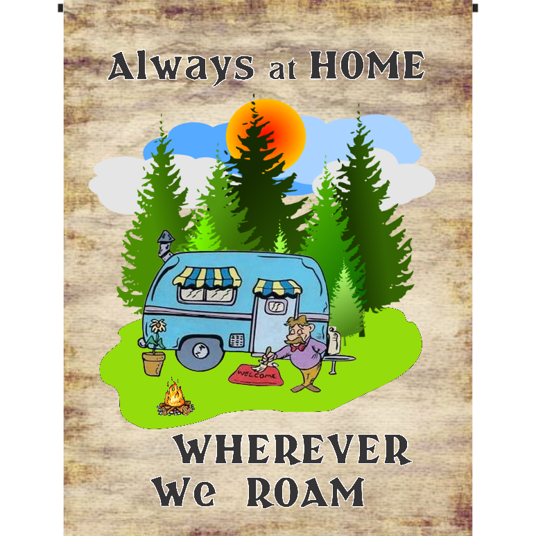 Always at Home Garden Flag - Incredible Keepsakes
