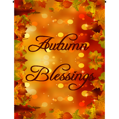 Autumn Blessings Garden Flag - Incredible Keepsakes
