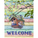 Birdhouse - Welcome Garden Flag