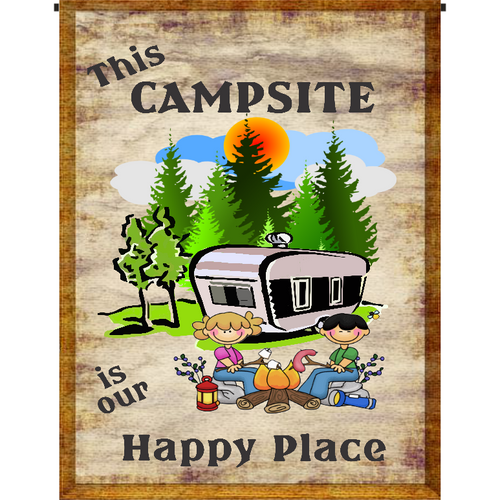 This Campsite is our Happy Place Garden Flag - Incredible Keepsakes