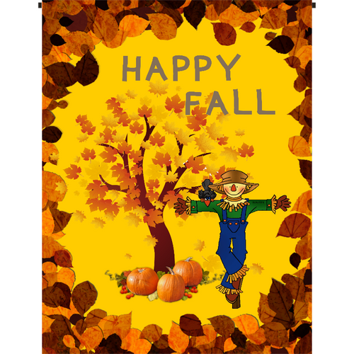 Happy Fall Garden Flag - Incredible Keepsakes