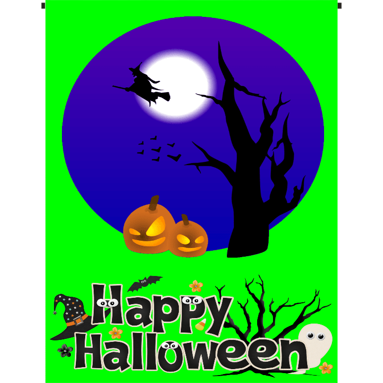 Happy Halloween Garden Flag - Incredible Keepsakes