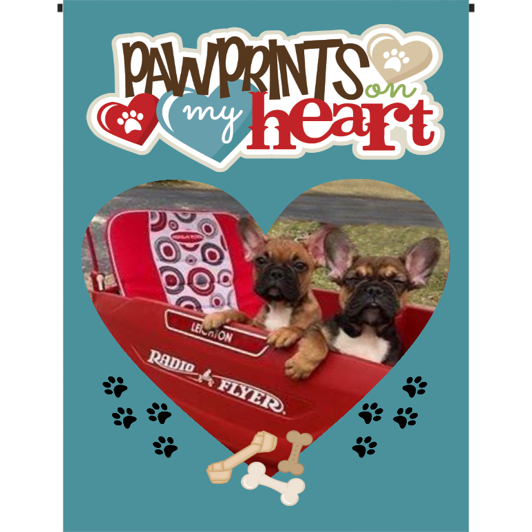 Pawprints on my Heart Garden Flag - Incredible Keepsakes