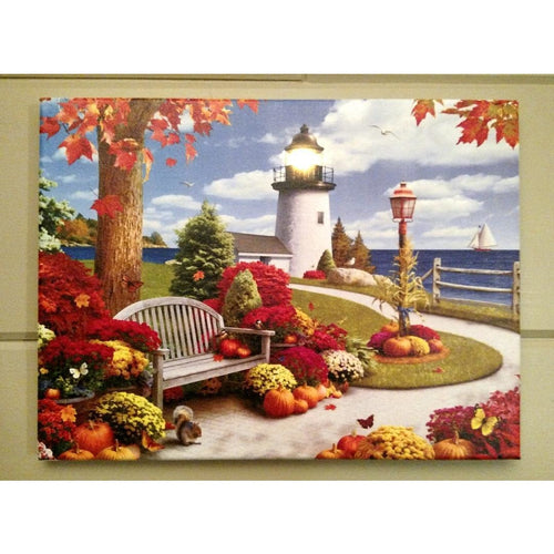 Fall Lighthouse Canvas - Incredible Keepsakes