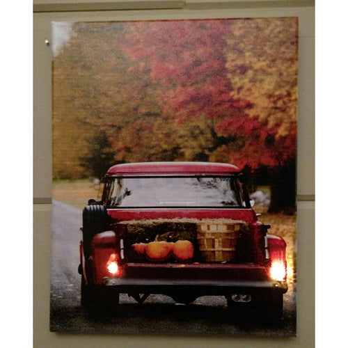 Pumpkin Truck Canvas - Incredible Keepsakes