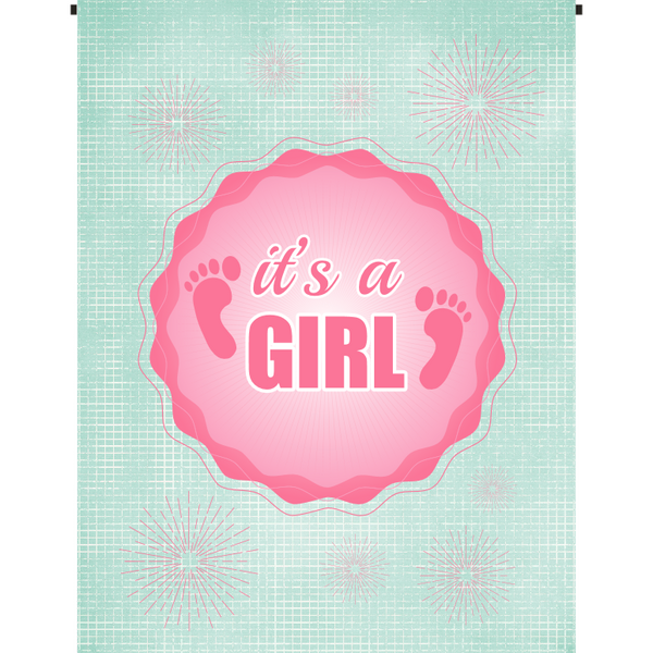 It's a Girl Garden Flag - Incredible Keepsakes