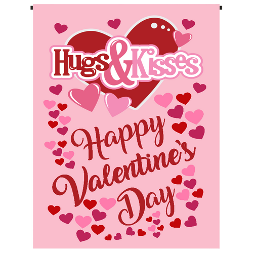 Hugs & Kisses Garden Flag - Incredible Keepsakes