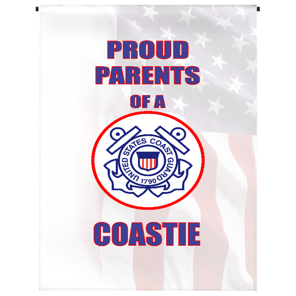 Proud Parents of U.S. Coastie Garden Flag - Incredible Keepsakes