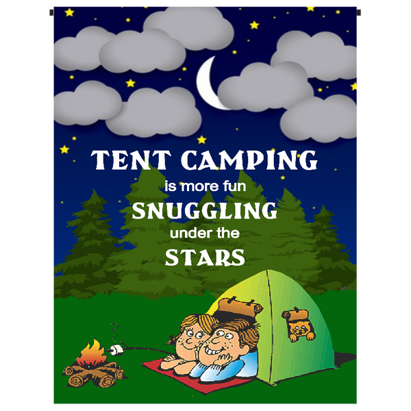 Tent Camping Garden Flag - Incredible Keepsakes