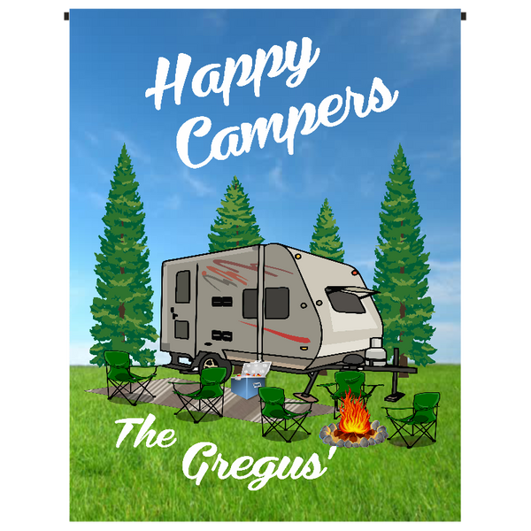 Happy Camper Garden Flag - Incredible Keepsakes