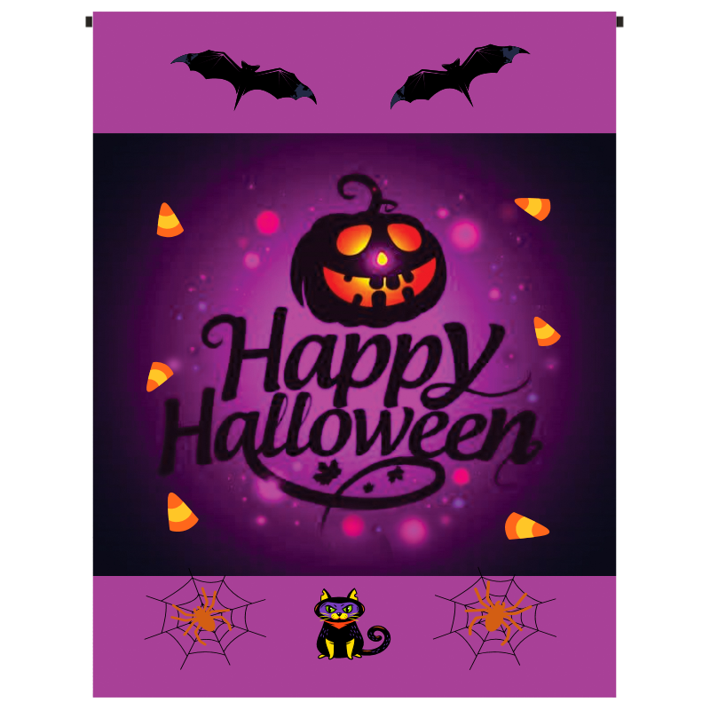 Happy Halloween (purple) Garden Flag - Incredible Keepsakes