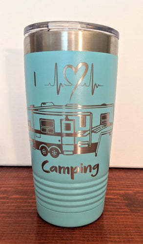 I Heart Camping Tumbler-Fifth Wheel