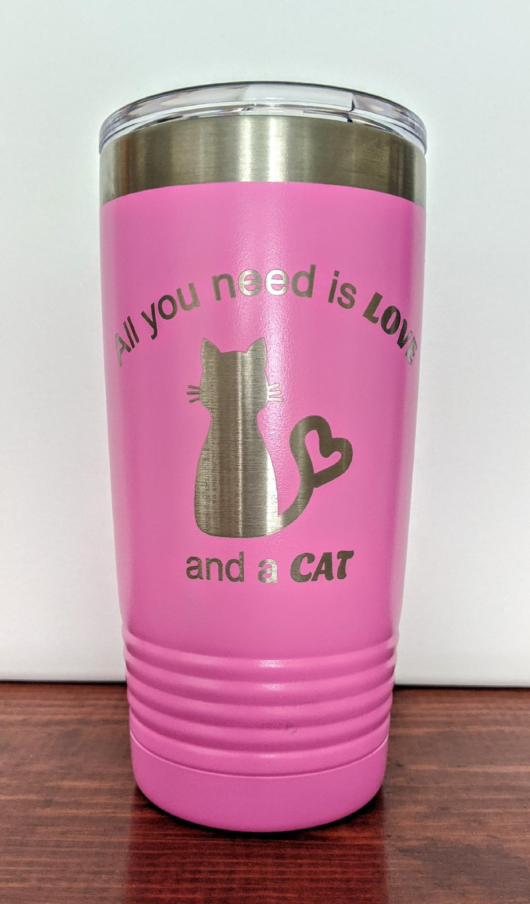 All you need is Love and a Cat Tumbler