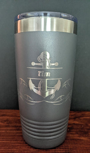 Anchor with Waves Tumbler