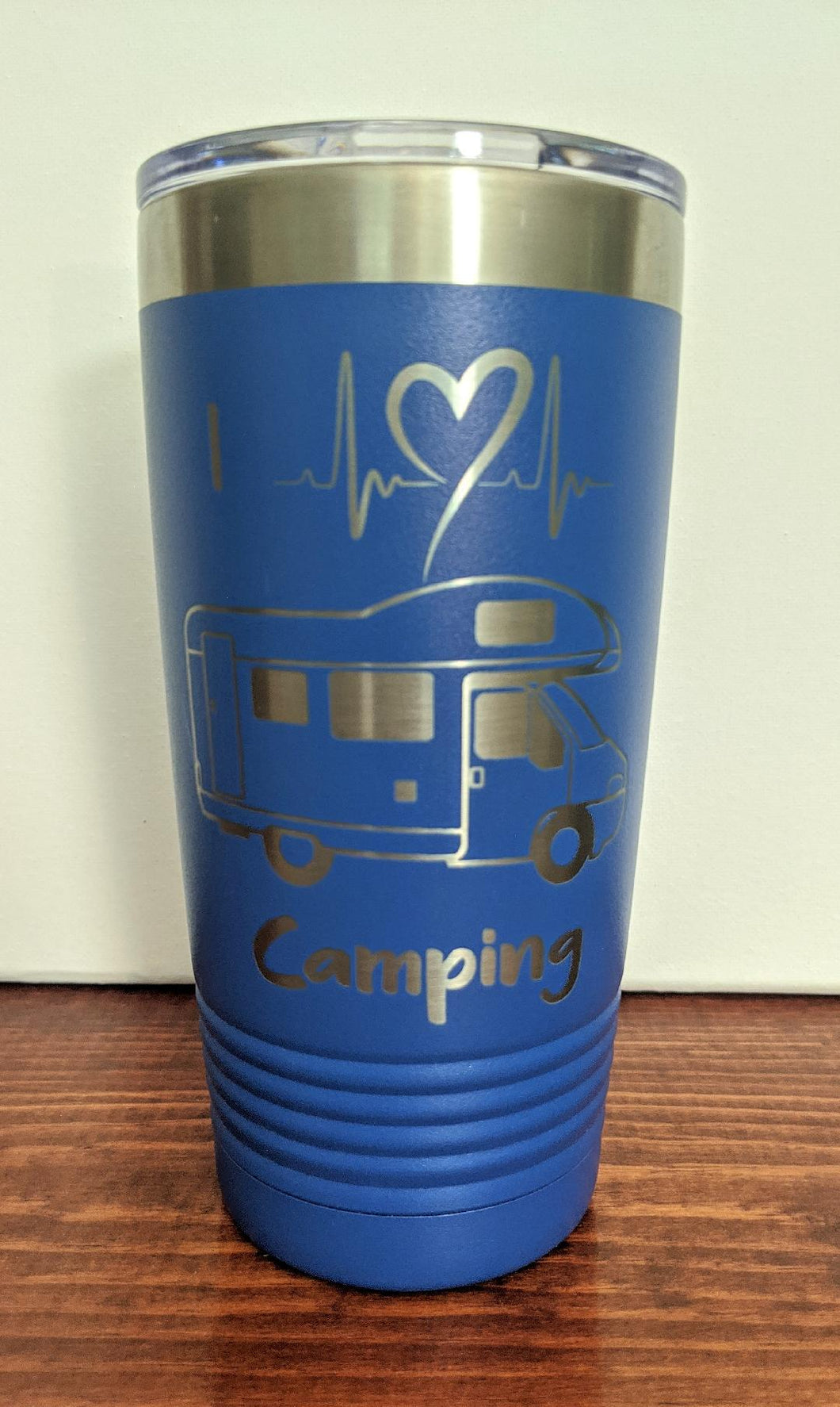 I Heart Camping Tumbler-Cab Over Motor Home