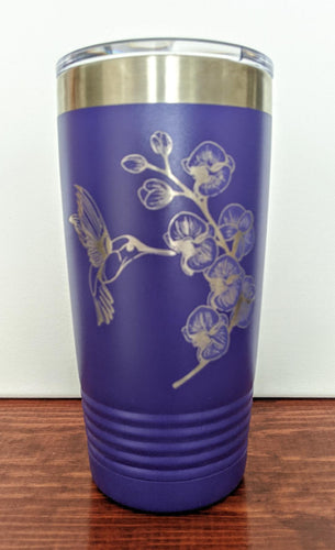 Humming Bird and Orchid Tumbler