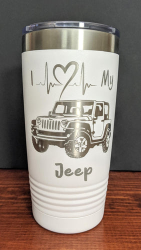 I Heart My Jeep Tumbler