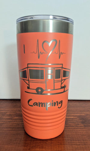 I Heart Camping Tumbler-Pop Up