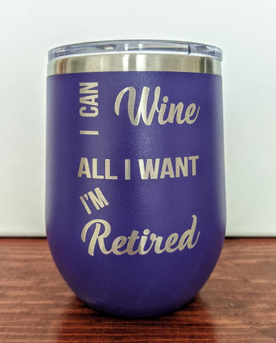 I Can Wine Stemless Wine Glass