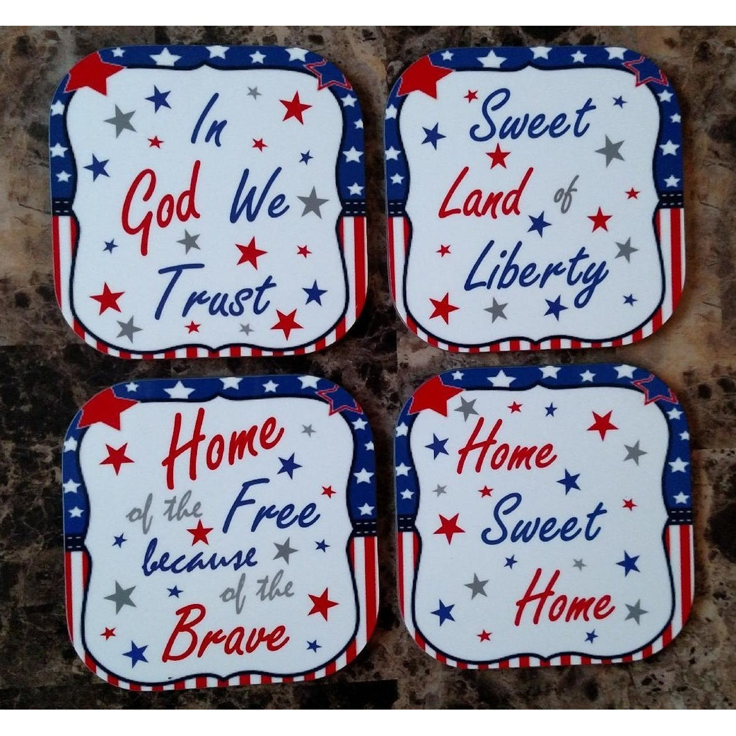 Red White & Blue Coasters - Incredible Keepsakes