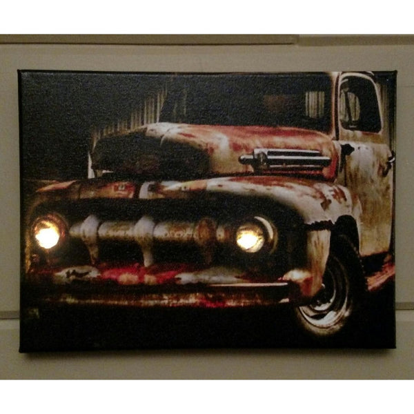 Rusty Old Truck Canvas - Incredible Keepsakes