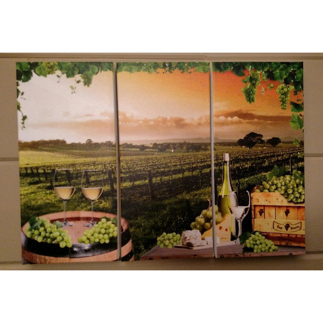 Sunset Wine 3 pc. Canvas Set - Incredible Keepsakes