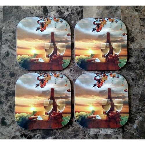 Sunset Wine Coasters - Incredible Keepsakes